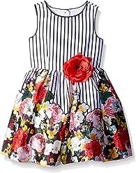 7de1f7b4e584 PIPPA & JULIE Girls' Border Print Party Dress