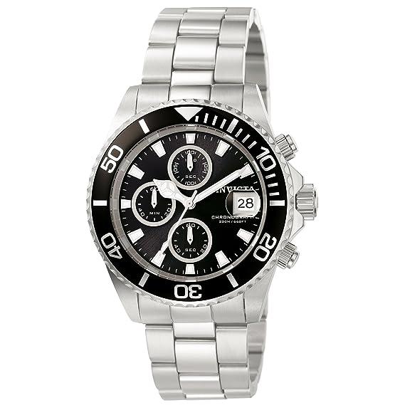 Invicta 1003 Pro Diver Reloj para Hombre acero inoxidable Cuarzo Esfera negro: Invicta: Amazon.es: Relojes
