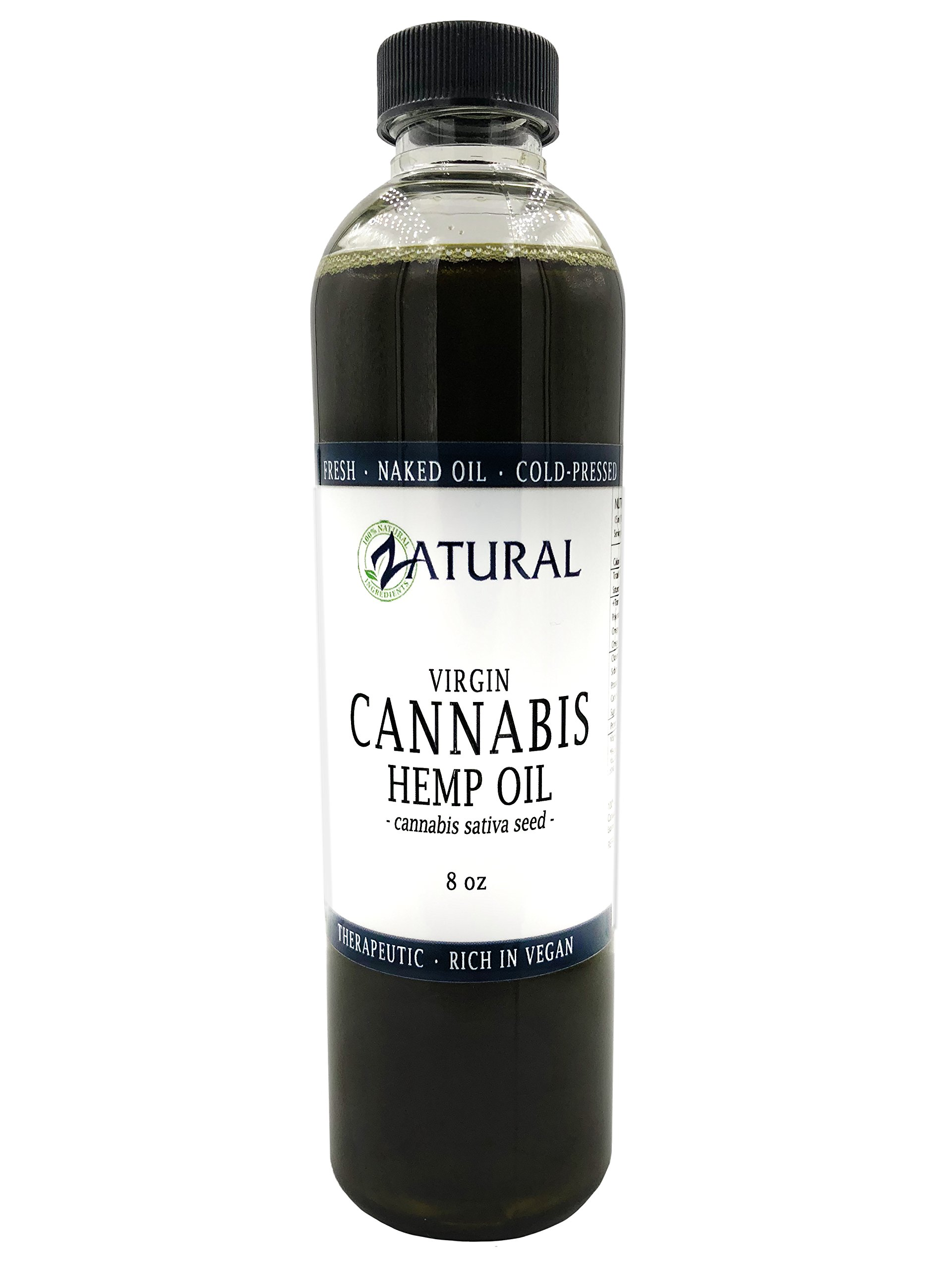 Hemp Oil- 100% Pure_No Fillers or Additives, Therapeutic Grade (NEW LOOK-SAME AMAZING PRODUCT) (8 Ounce)