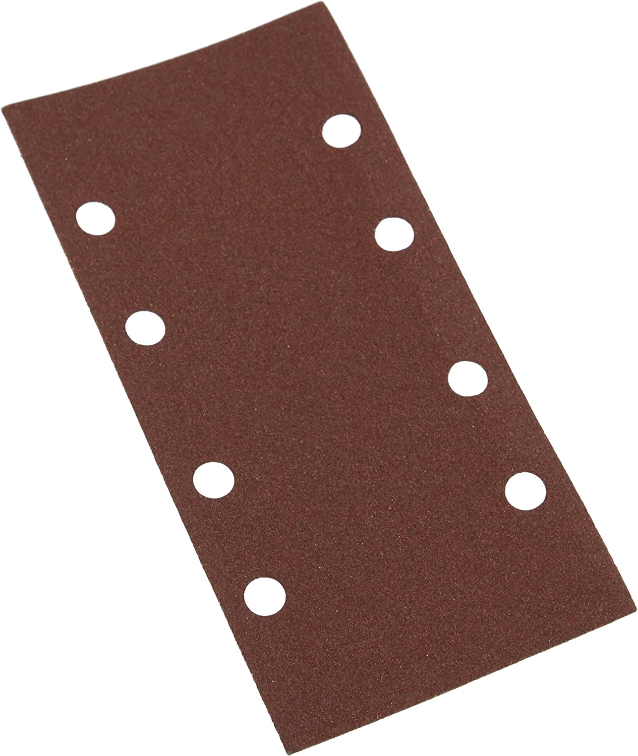 Pack of 10 Silverline 945689 Hook and Loop 1//2 Sheets Punched 120 Grit