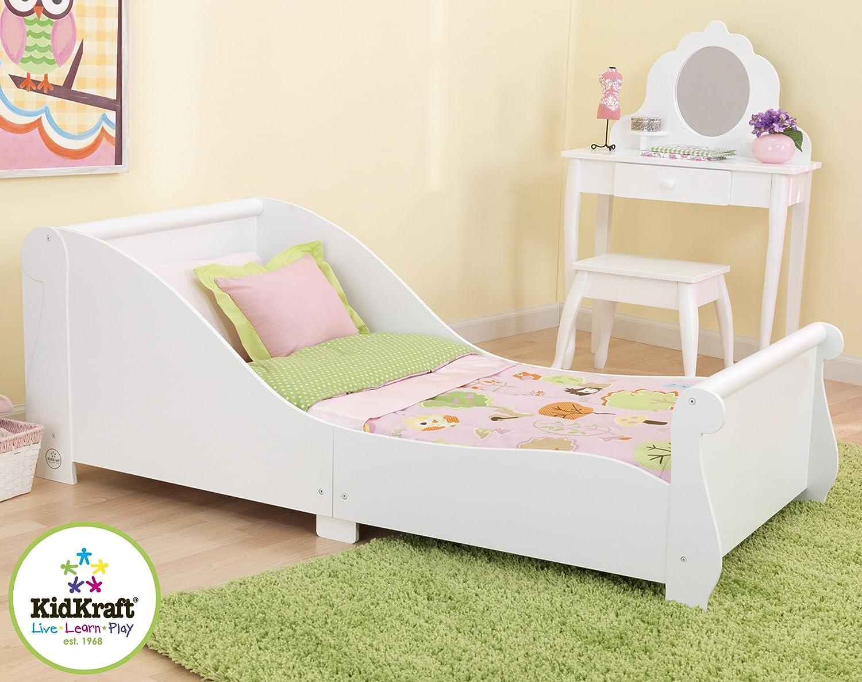 Kidkraft white toddler bed - Kidkraft Sleigh Toddler Bed White Kidkraft Amazon Co Uk Kitchen Home