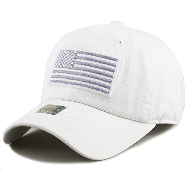 THE HAT DEPOT Low Profile Tactical Operator USA Flag Buckle Cotton Cap  (White)  Amazon.ca  Clothing   Accessories f3256f557a63