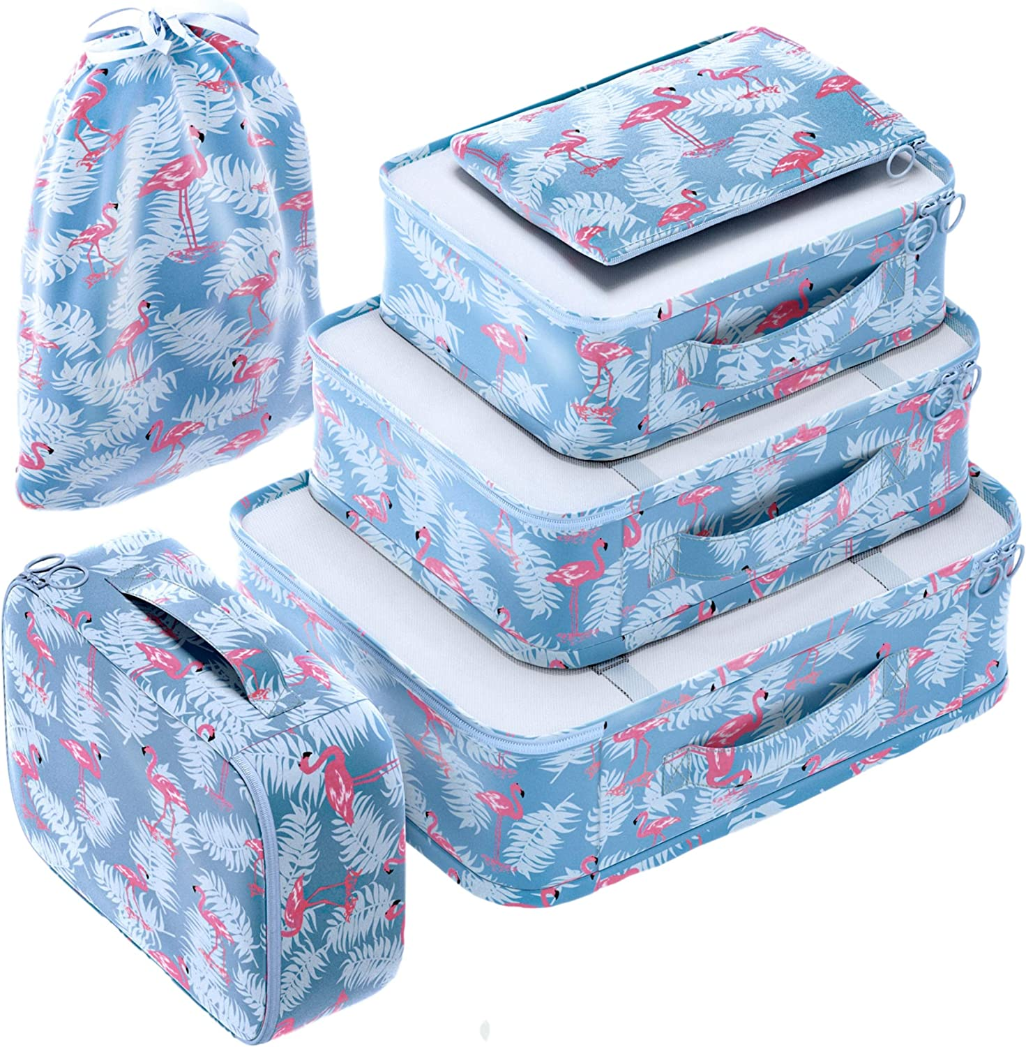 EVEK Packing Cubes Set Travel Luggage Organizer Suitcase Compact Lightweight Large Capacity