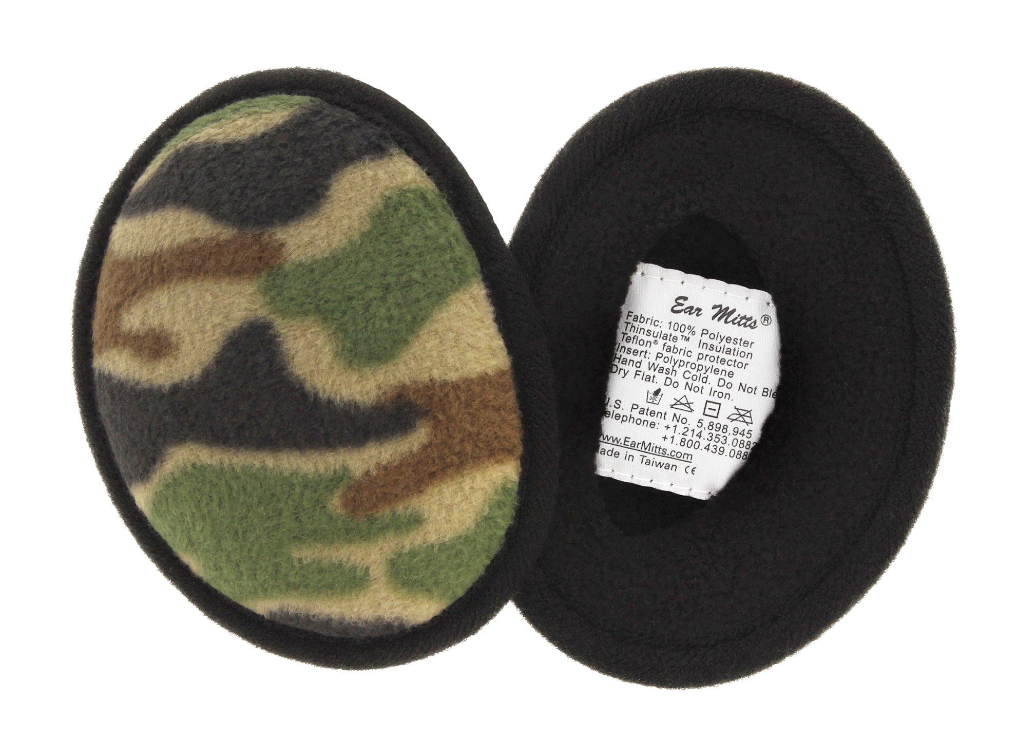 Ear Mitts Bandless Ear Muffs For Men, Camouflage Fleece Ear Warmers, Regular
