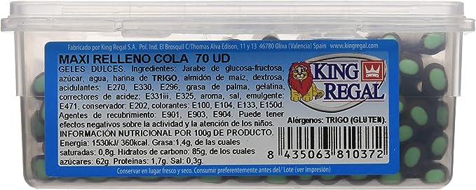 King Regal Maxi Relleno Cola - estuche 70 unidades: Amazon.es: Alimentación y bebidas