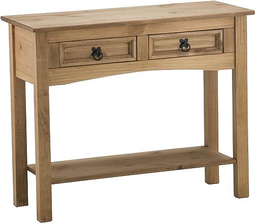 Birlea Furniture Corona - Mesa Auxiliar con Dos cajones y Tablero ...