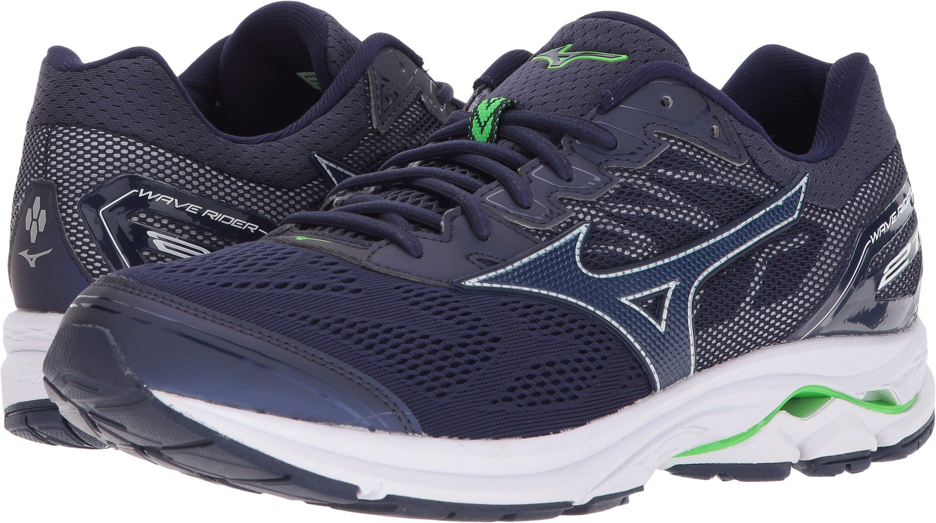 Mizuno Men's Wave Rider 21 Running Shoe, Eclipse, 12 D US by Mizuno