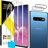 [2+2 Pack] BAZO Flexible TPU Screen Protector for Samsung Galaxy S10 (6.1 inch) + Camera Lens Protector,HD [Bubble Free] Flex
