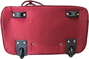 """Amerileather Deluxe Skylar 17"""" Rolling Tote with Laptop Compartment"""