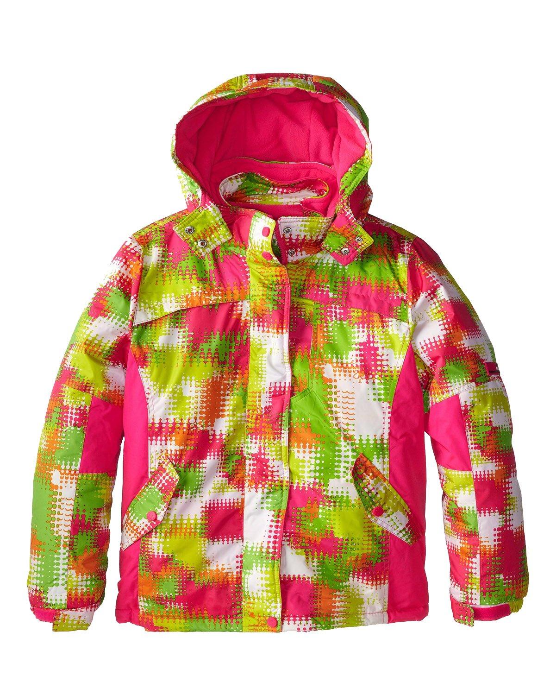 Big Chill Little Girls' Space Dye Systems Snowboard Coat Ski Jacket, Pink Glo, 4