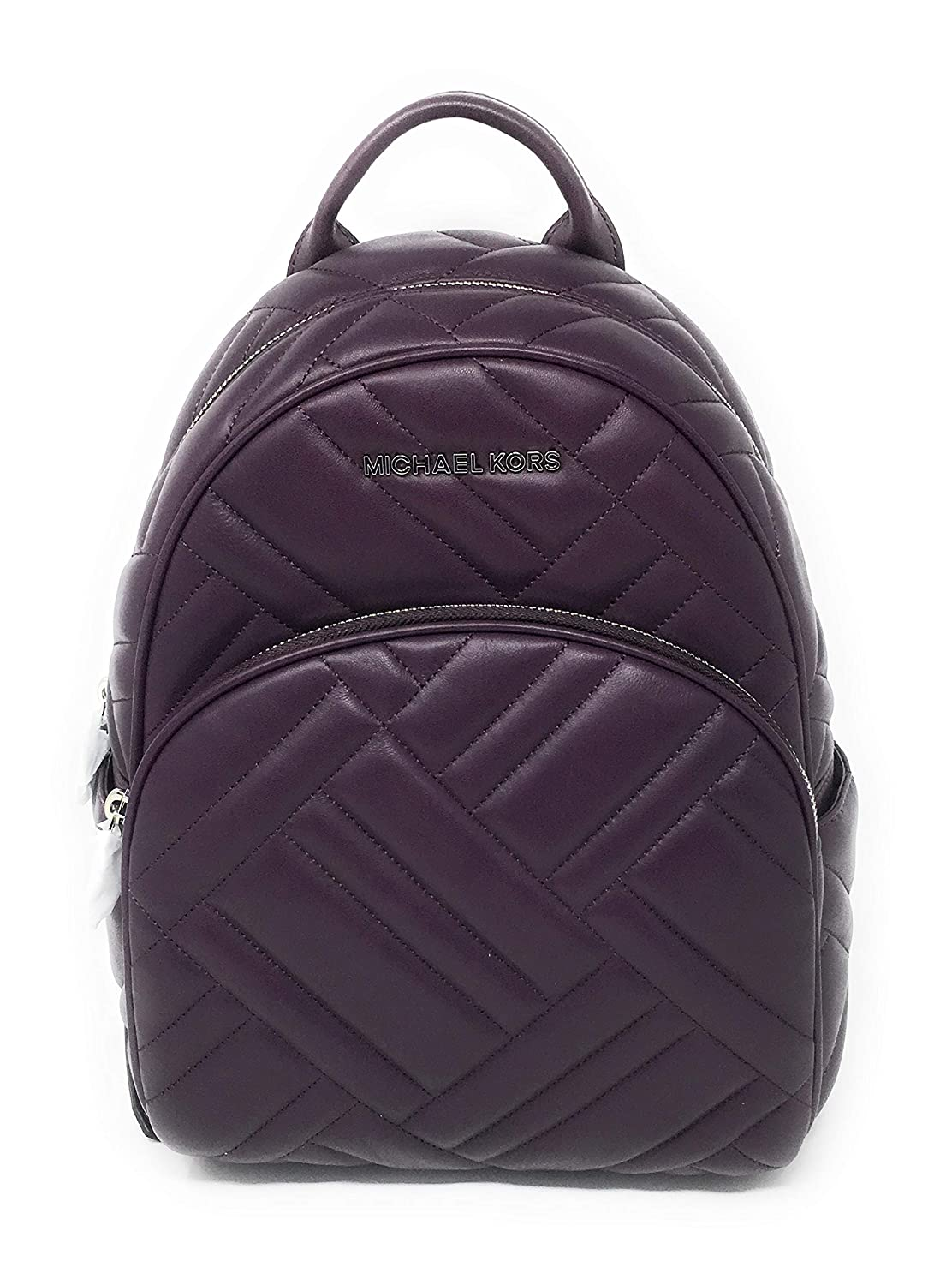 a40ff230f274 Amazon.com: Michael Kors Abbey Medium Chevron Quilted Leather Backpack  Damson: Shoes