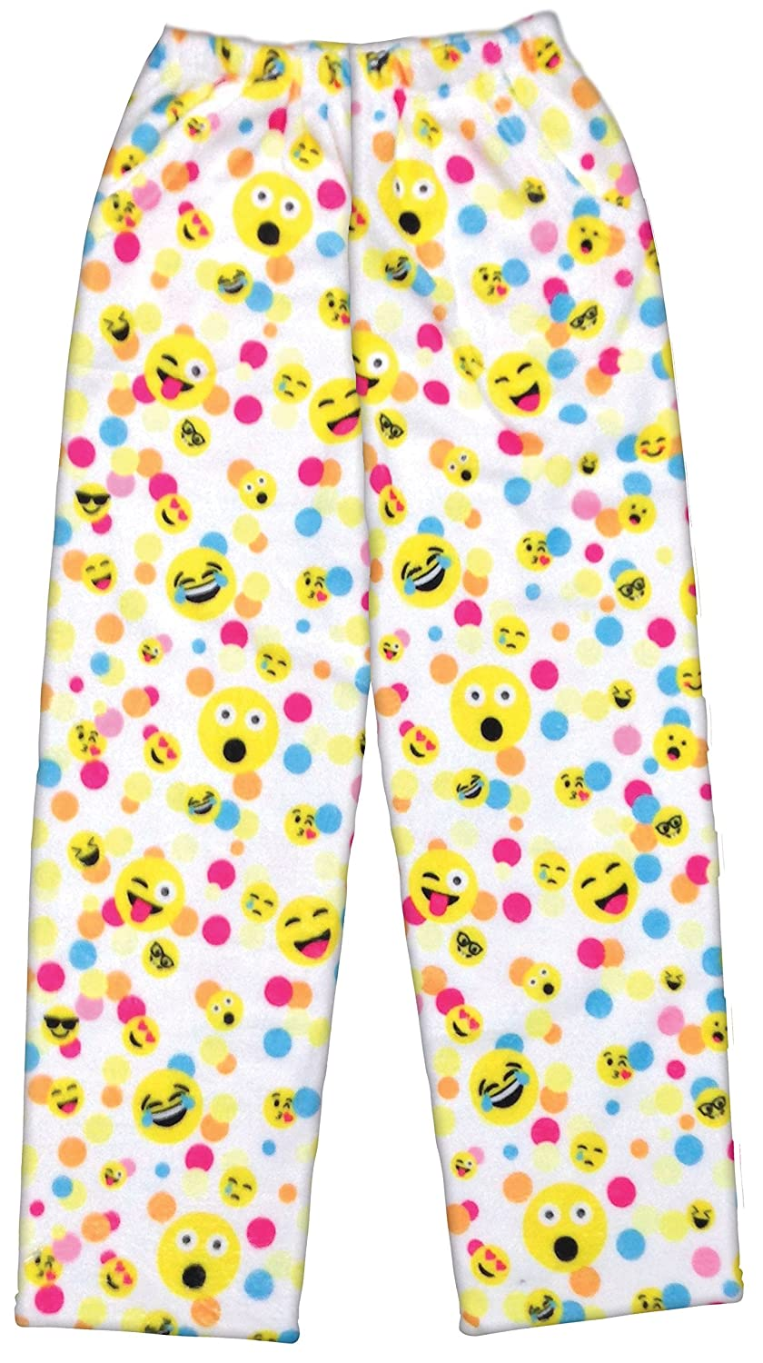 iscream Big Girls Silky Soft Plush Fleece Pants - Emoji Besties Collection The Mines Press Inc.