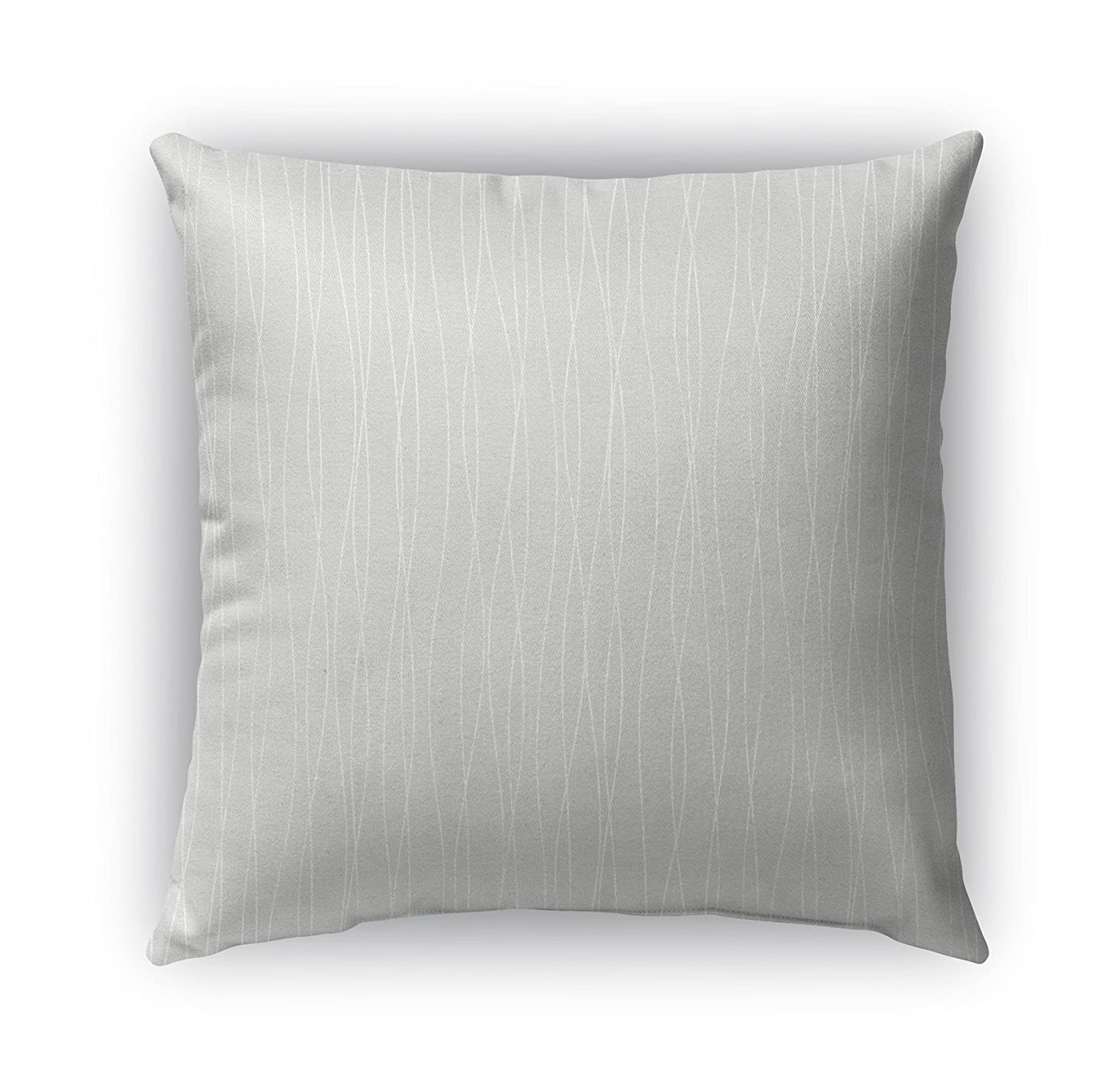 KAVKA Designs Trento Indoor-Outdoor Pillow, TELAVC1487OD18 Grey Size: 18X18X6 - - Encompass Collection