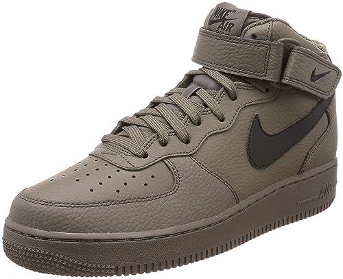 uk availability fbbb6 e2961 Nike Air Force 1 Mid 07, Sneaker a Collo Alto Uomo, Marrone Black-ridgerock  205, 45 EU  Amazon.it  Scarpe e borse