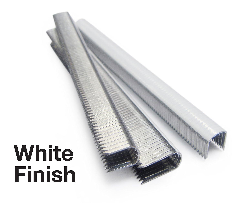 10 mm Tacwise 1094 Grapas para cables de color blanca y de puntas divergentes CT-60//10 mm