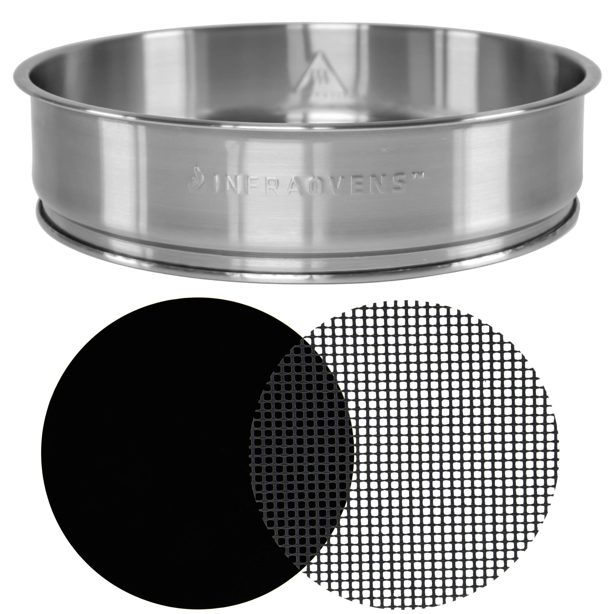Extender Ring Compatible with NuWave Oven Pro Plus & NuWave Oven Elite - 3 inch Stainless Steel Increases 50% Capacity of your Oven - Bundles w/Cooking & Baking Accessories by INFRAOVENS