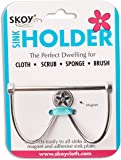 Skoy Sink Holder/Caddy for Kitchen Sink, Premium Stainless Steel, No Suction, Sponge Cloth Hanger Dryer for Dishcloth…