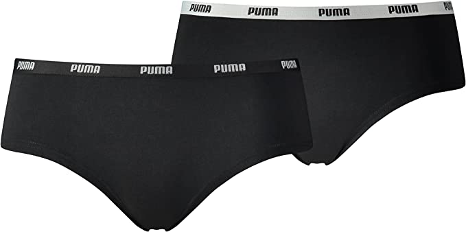 Puma Mujer Iconic Hipster Pantis Slips 573009001 6er Pack: Amazon ...
