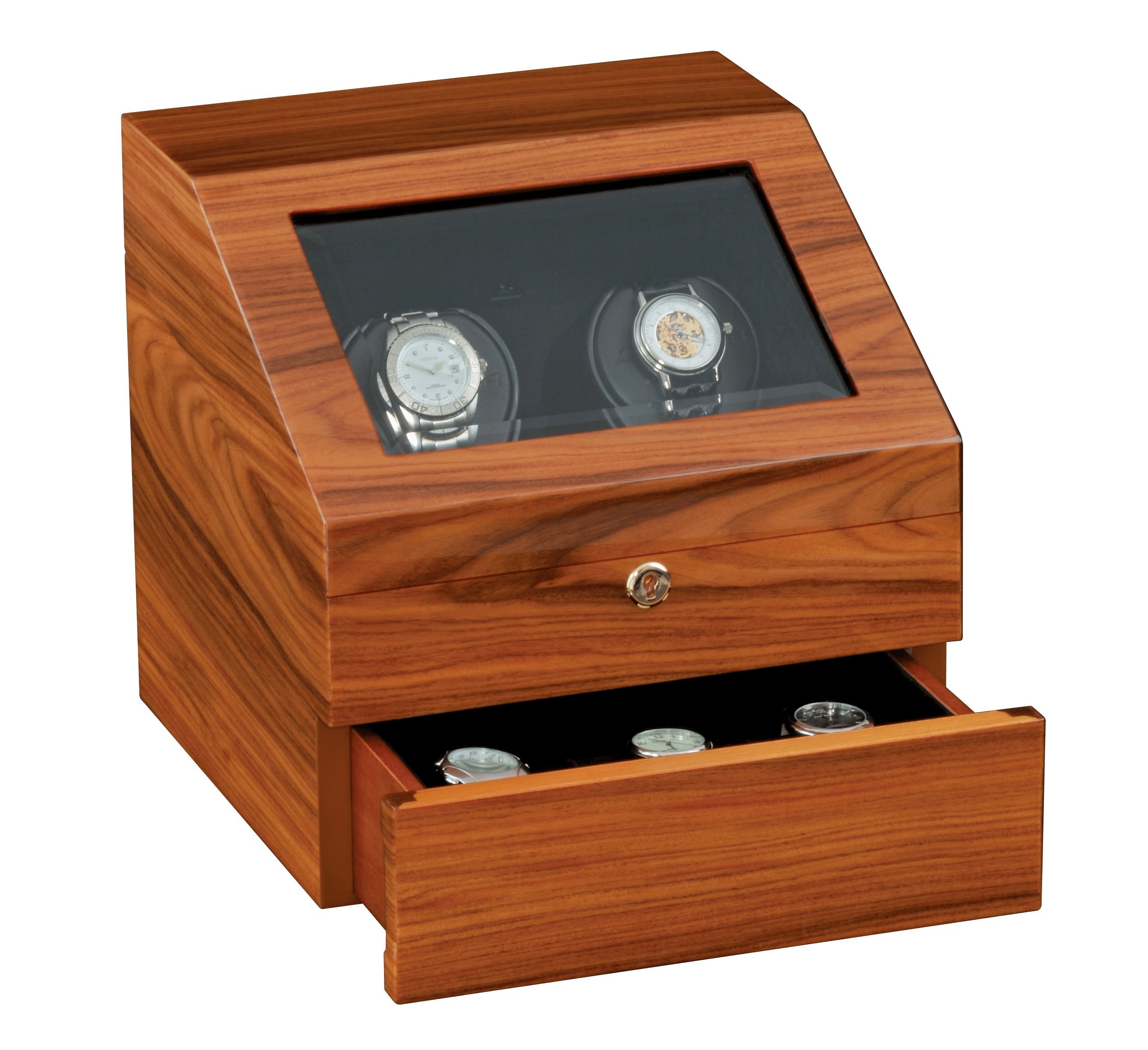 Siena Two Executive Teakwood Watchwinder by Orbita Model W13025