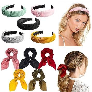 Damen Yoga Sports Breit Elastisch Haarreifen Stirnband Kopfbedeckung Einfarbig