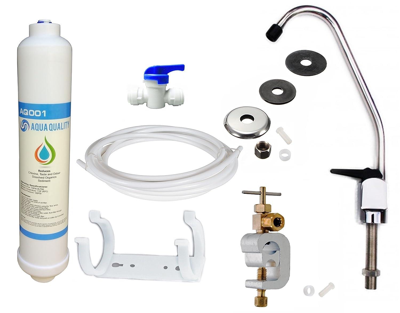 Sous é vier robinet d'eau potable Systè me de kit de filtre avec robinet et accessoires Aqua Quality