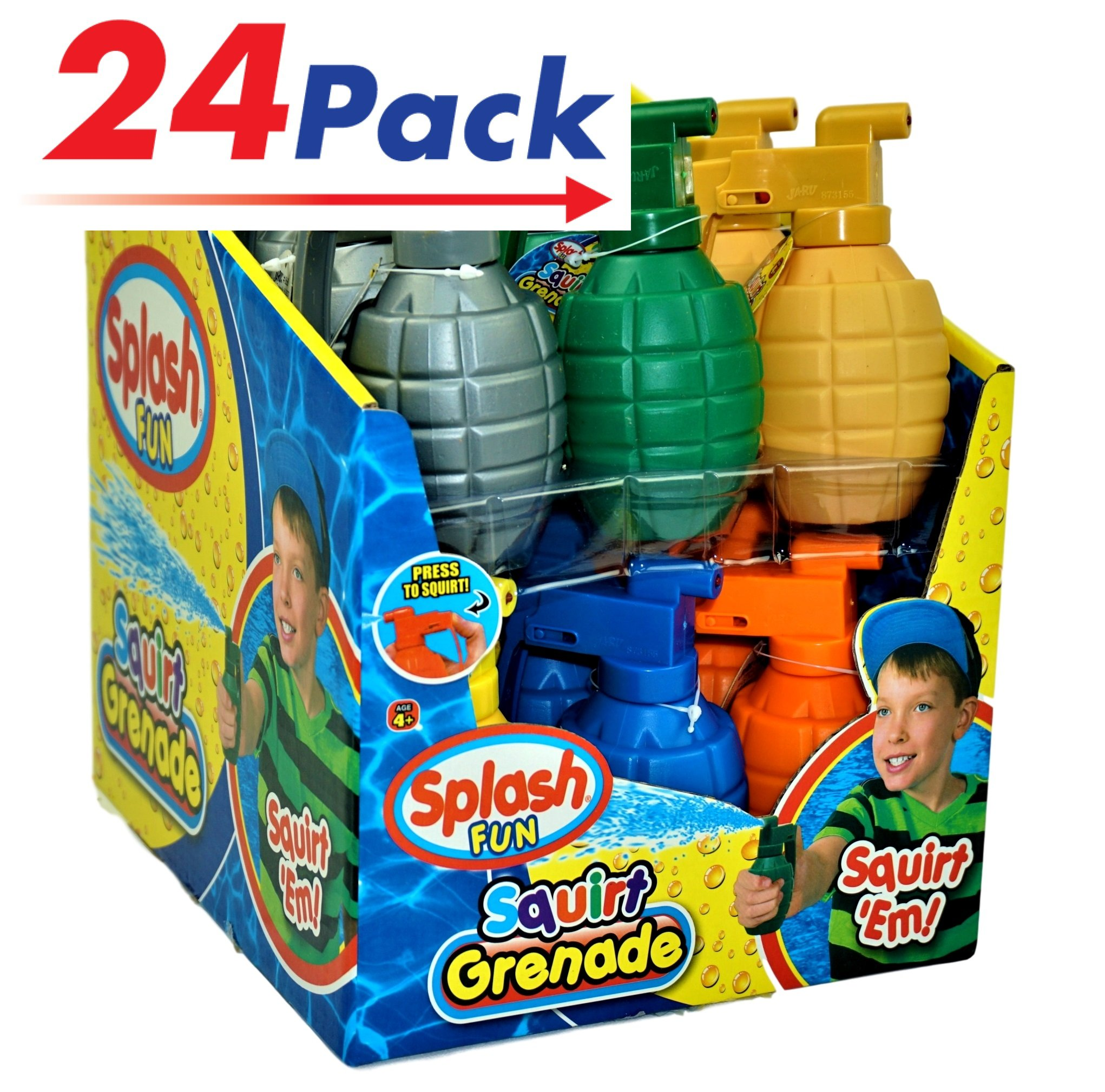 JA-RU Water Squirt Grenade (Pack of 24) Kids Toys Super Soaker Water Splash | Item #868-24 by JA-RU