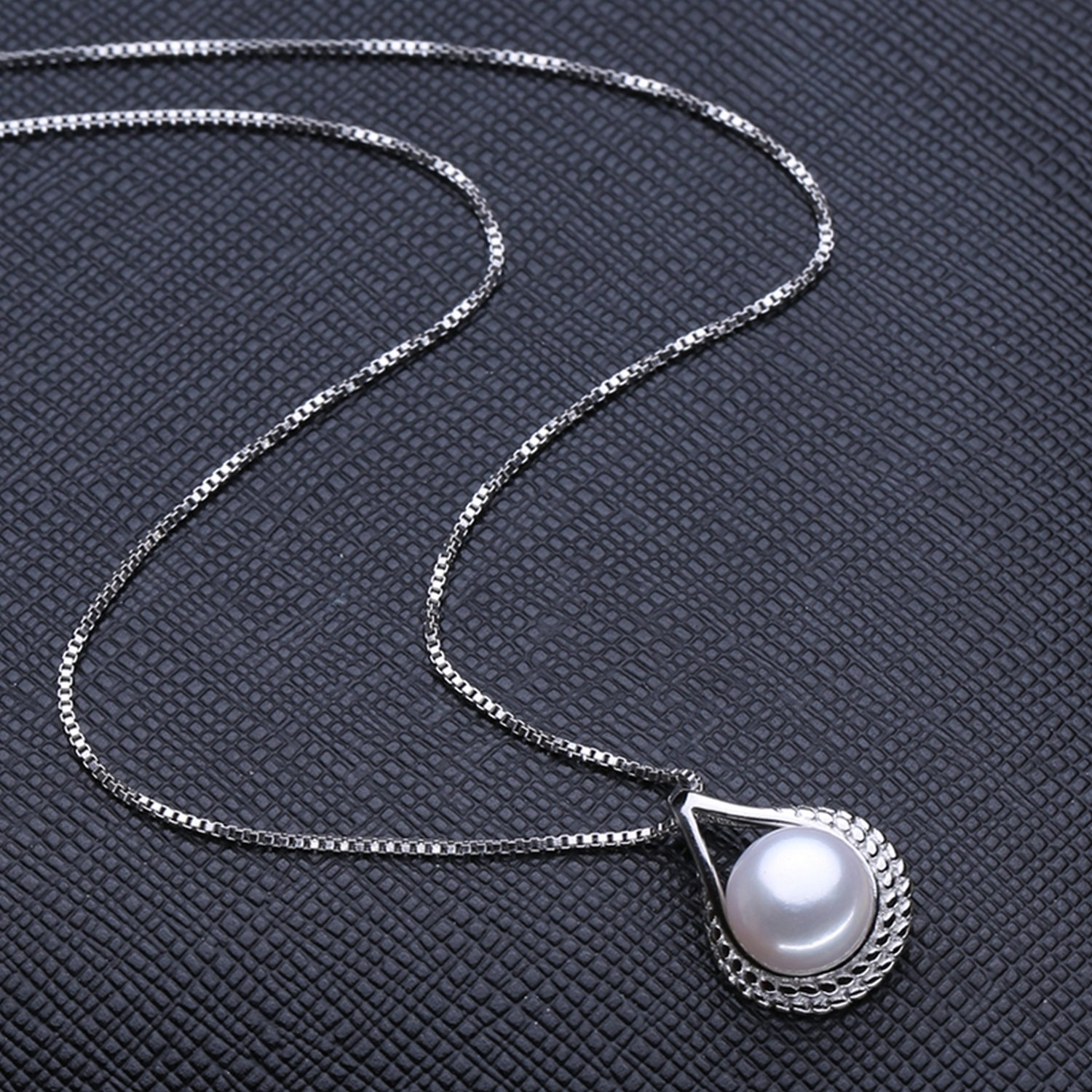 CS-DB Jewelry Silver Stone Pearl Chain Charm Pendants Necklaces