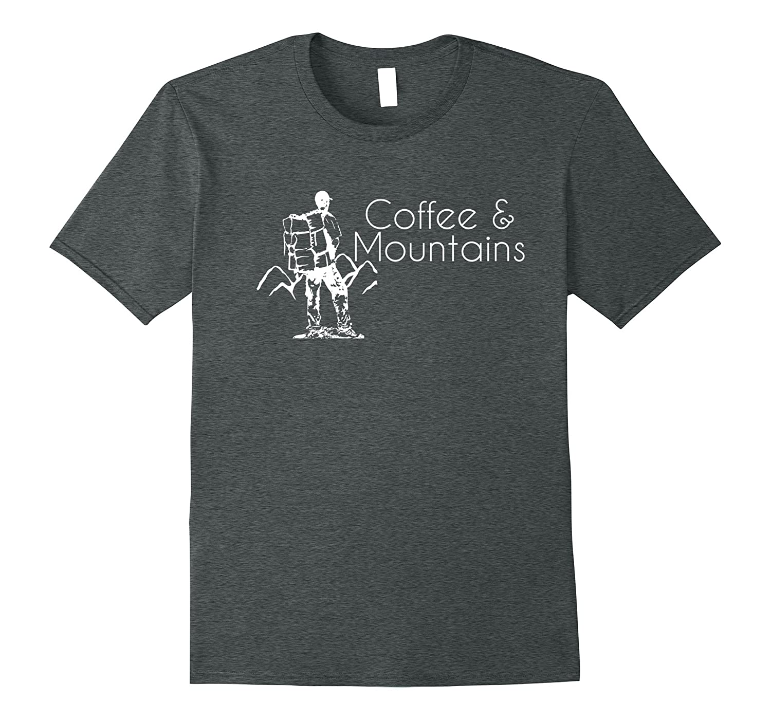 Coffee & Mountains T-Shirt Hiking Funny Tee-Teehay
