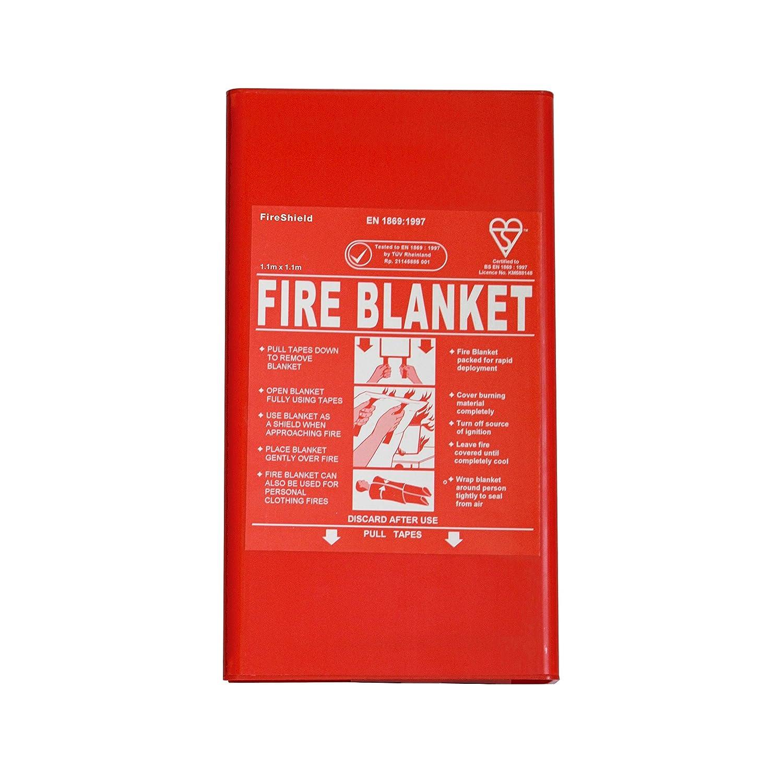 1m x 1m Hard Case Fire Blanket (Kitemarked) FireShield