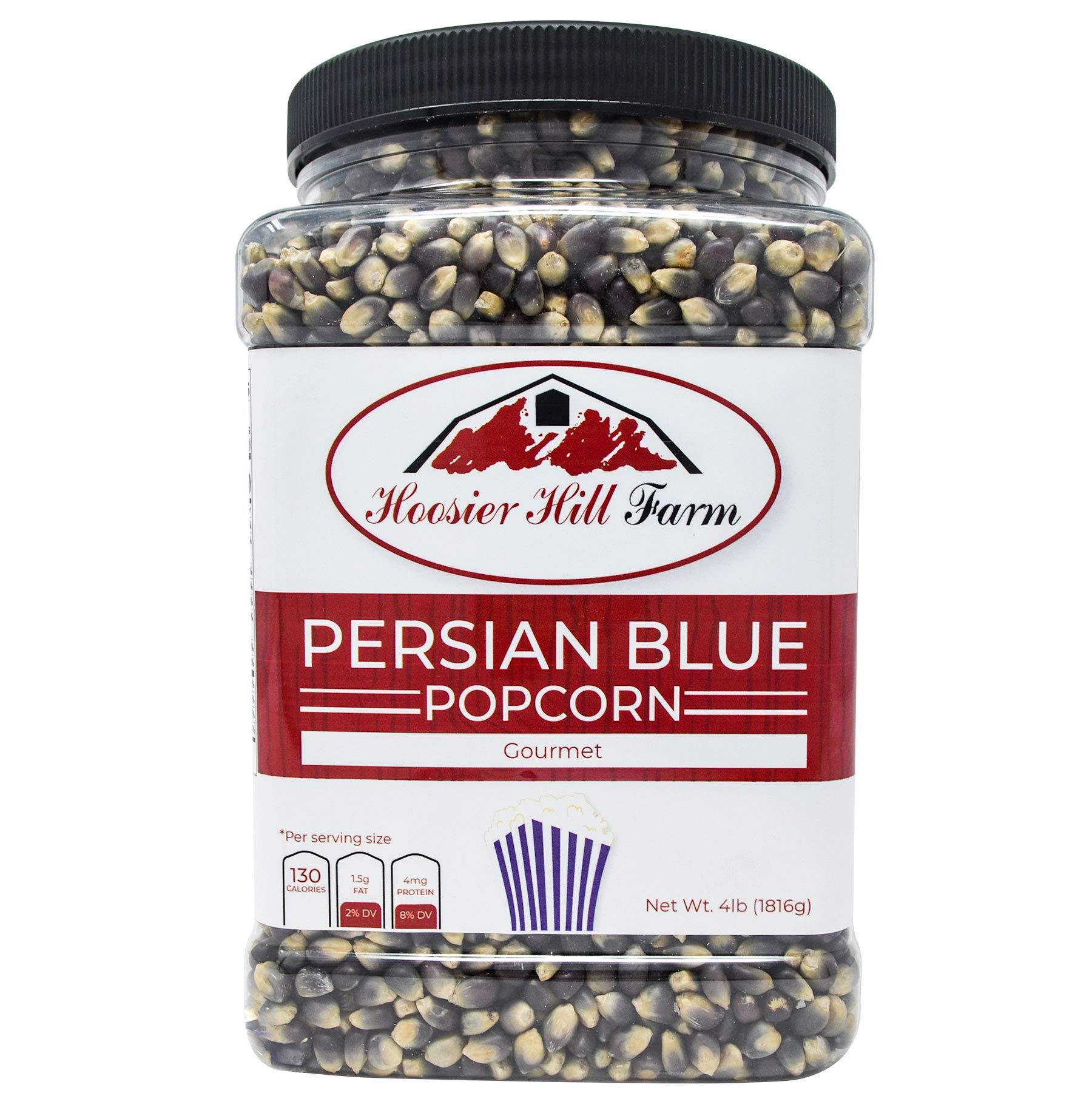 Hoosier Hill Farm Gourmet Persian Blue, Popcorn Lovers 4 lb. Jar. by Hoosier Hill Farm