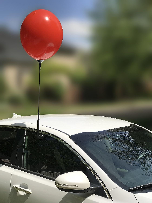 再利用可能なバルーンウィンドウキットwith Removableクリップ、ポール、自動車販売広告、耐候性ビニール レッド B07CYLDPPK レッド レッド