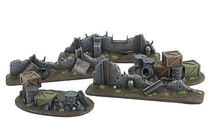 WWG War Torn City - Urban Defensive Position and Ruined Barricades - 28mm  Warhammer Scenery 40K Necromunda Terrain