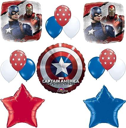 Amazon.com: Capitán América Fiesta de cumpleaños decoración ...