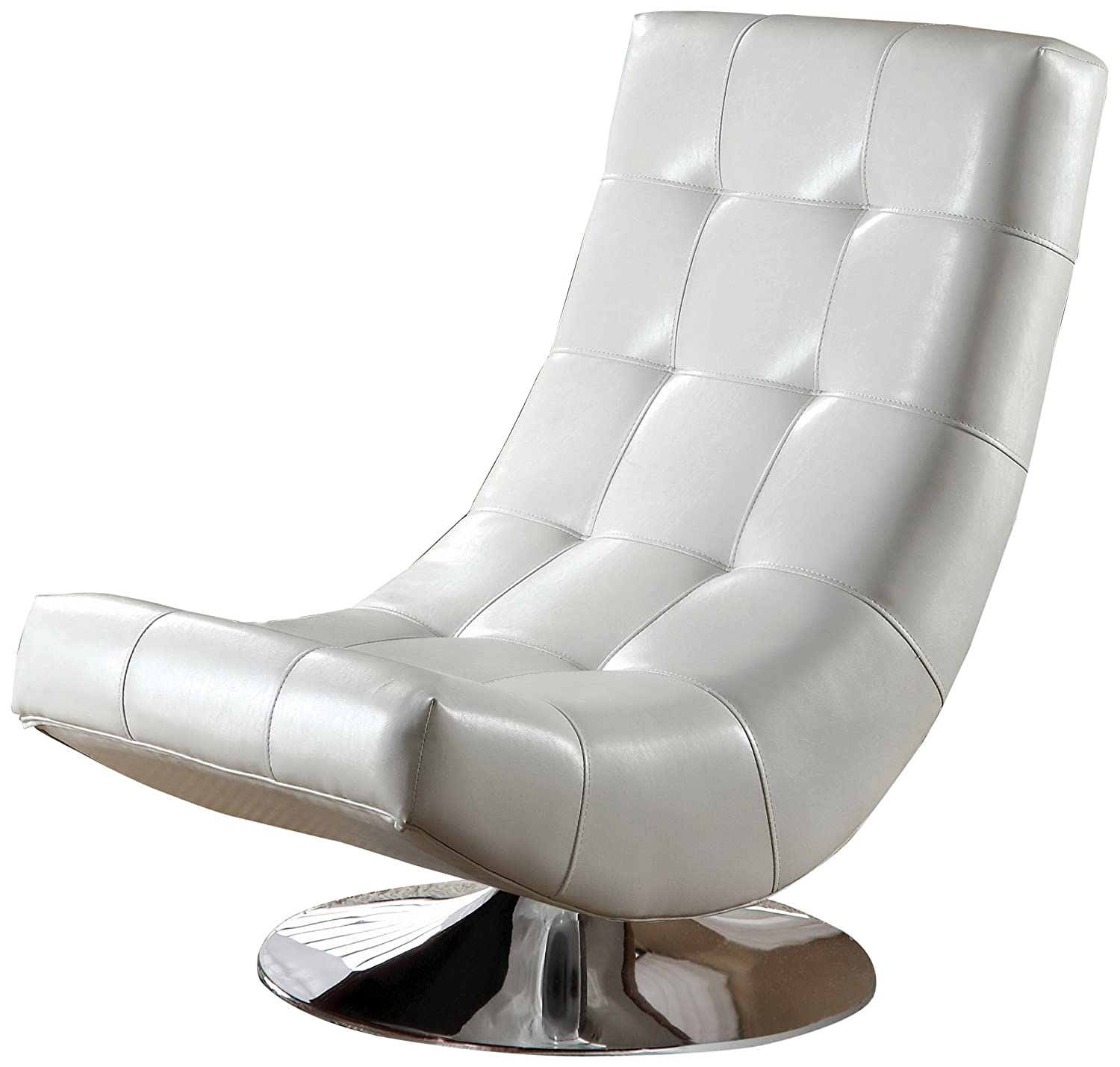Amazon Furniture of America Dresden Leatherette Swivel