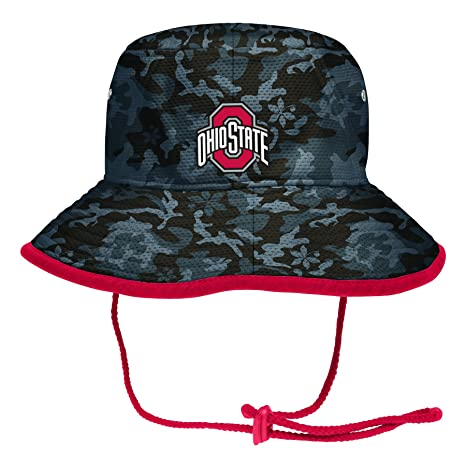 new style dc6d1 a267f NCAA Ohio State Buckeyes Adult Camo Bucket, One Size, Graphite Red