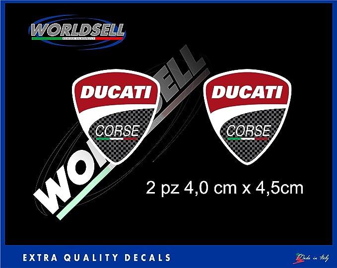 Pegatinas Escudo Ducati Corse 2 unidades Moto GP SBK Panigale Monster Multistrada 848: Amazon.es: Juguetes y juegos