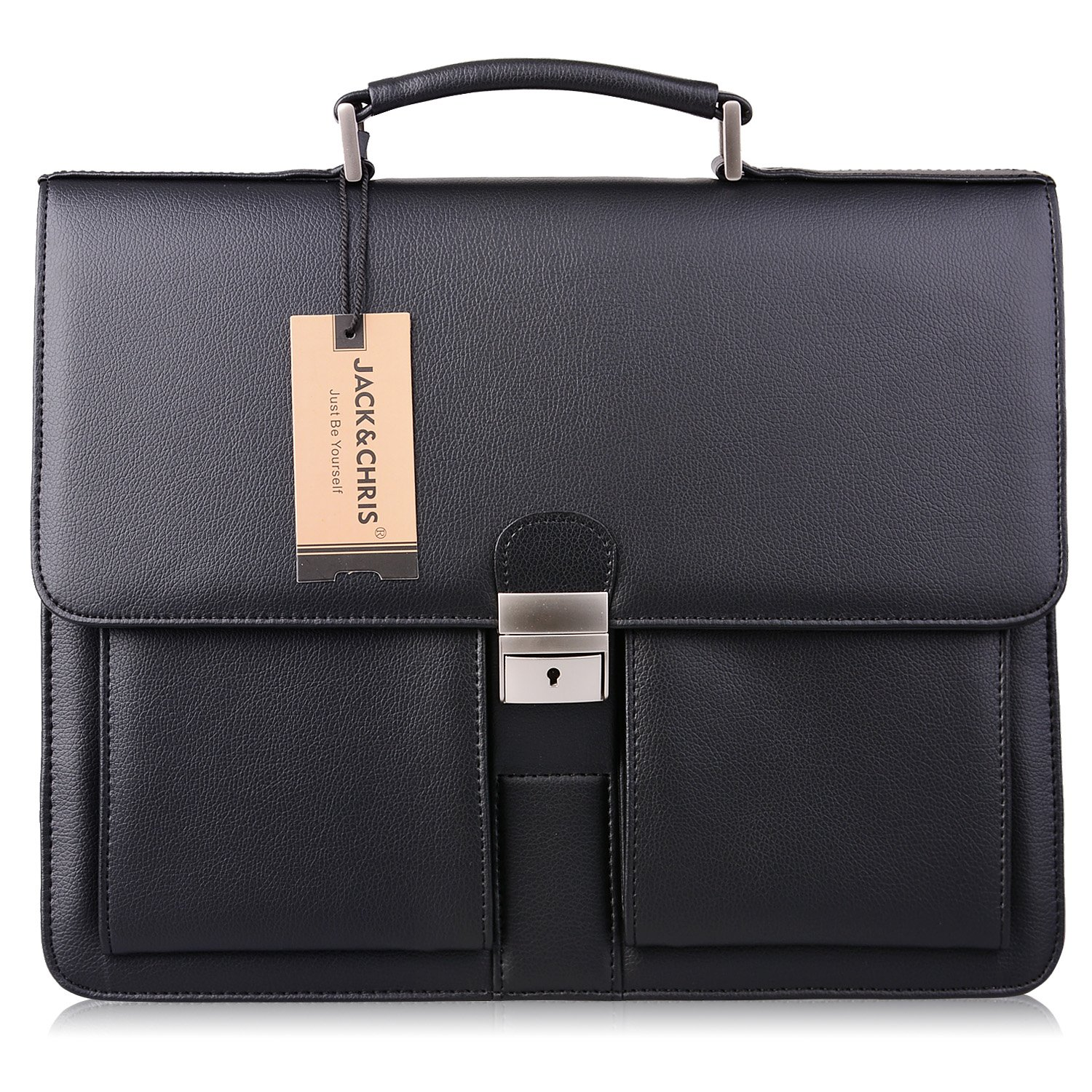 Amazon Com Mens Leather Briefcases