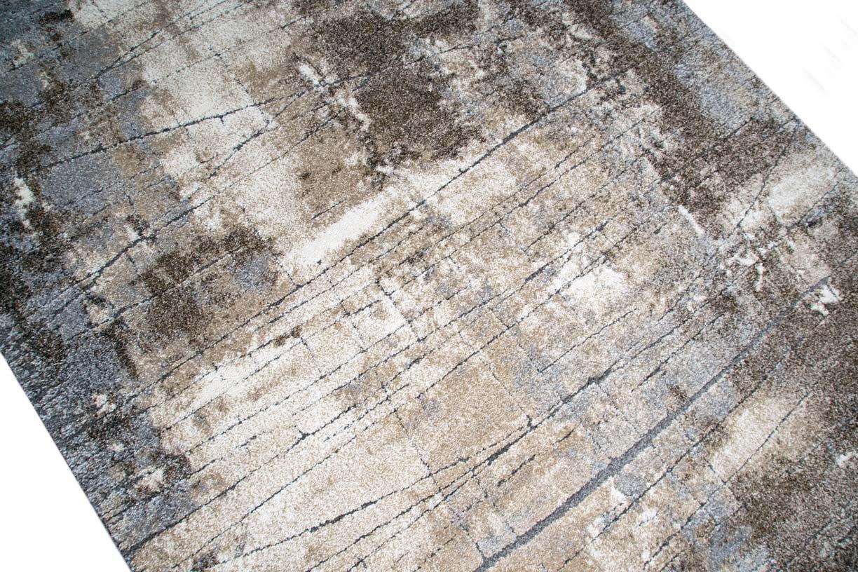 Designer Teppich Moderner Teppich Wohnzimmer Teppich Barock Design  Steinmauer Optik In Braun Beige Grau Creme Meliert ...