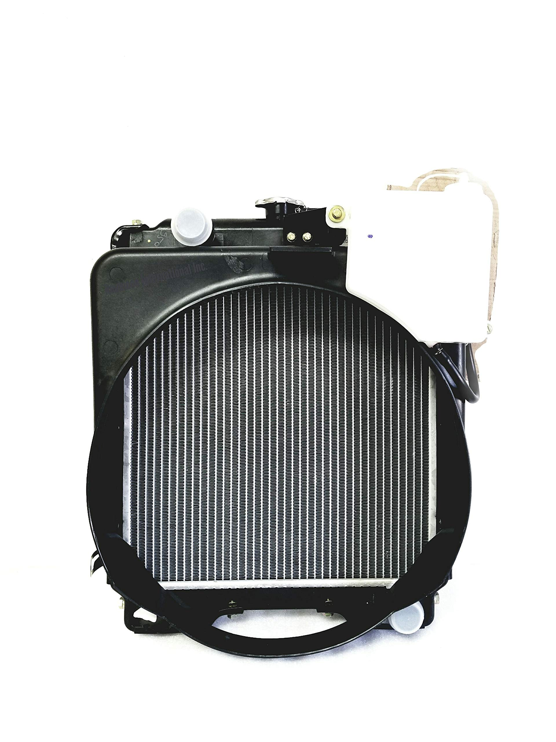 Radiator with Cowl,Reservoir Mahindra C27 C35 350 450 E40 475 E350 3505 3325 3525 C4005 5005 005550175R91 005555723R9 006000275R91 by Replacement for Mahindra Tractor