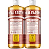 Dr. Bronner's - Pure-Castile Liquid Soap (Eucalyptus, 32 ounce, 2-Pack) - Made with Organic Oils, 18-in-1 Uses: Face, Body, H