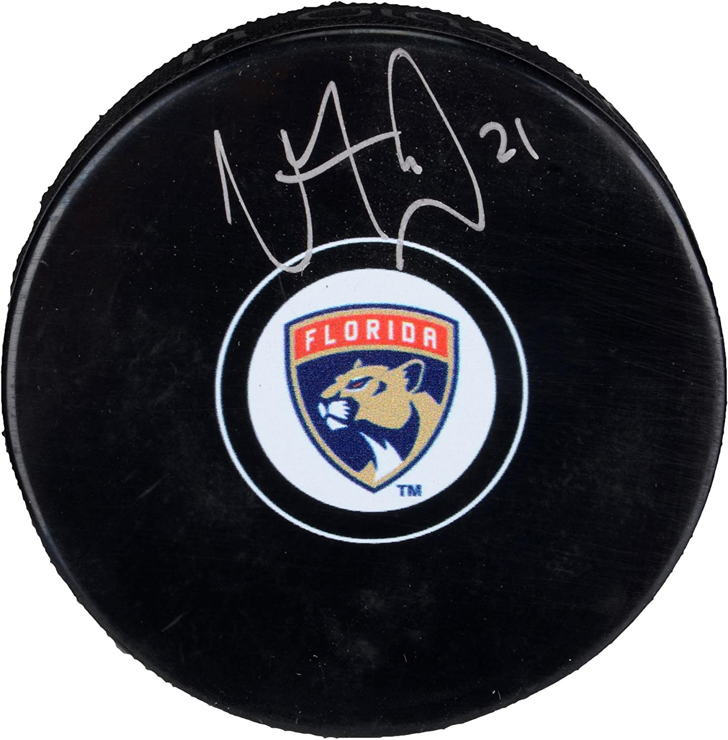 Vincent Trocheck Florida Panthers Autographed Hockey Puck - Fanatics Authentic Certified - Autographed NHL Pucks