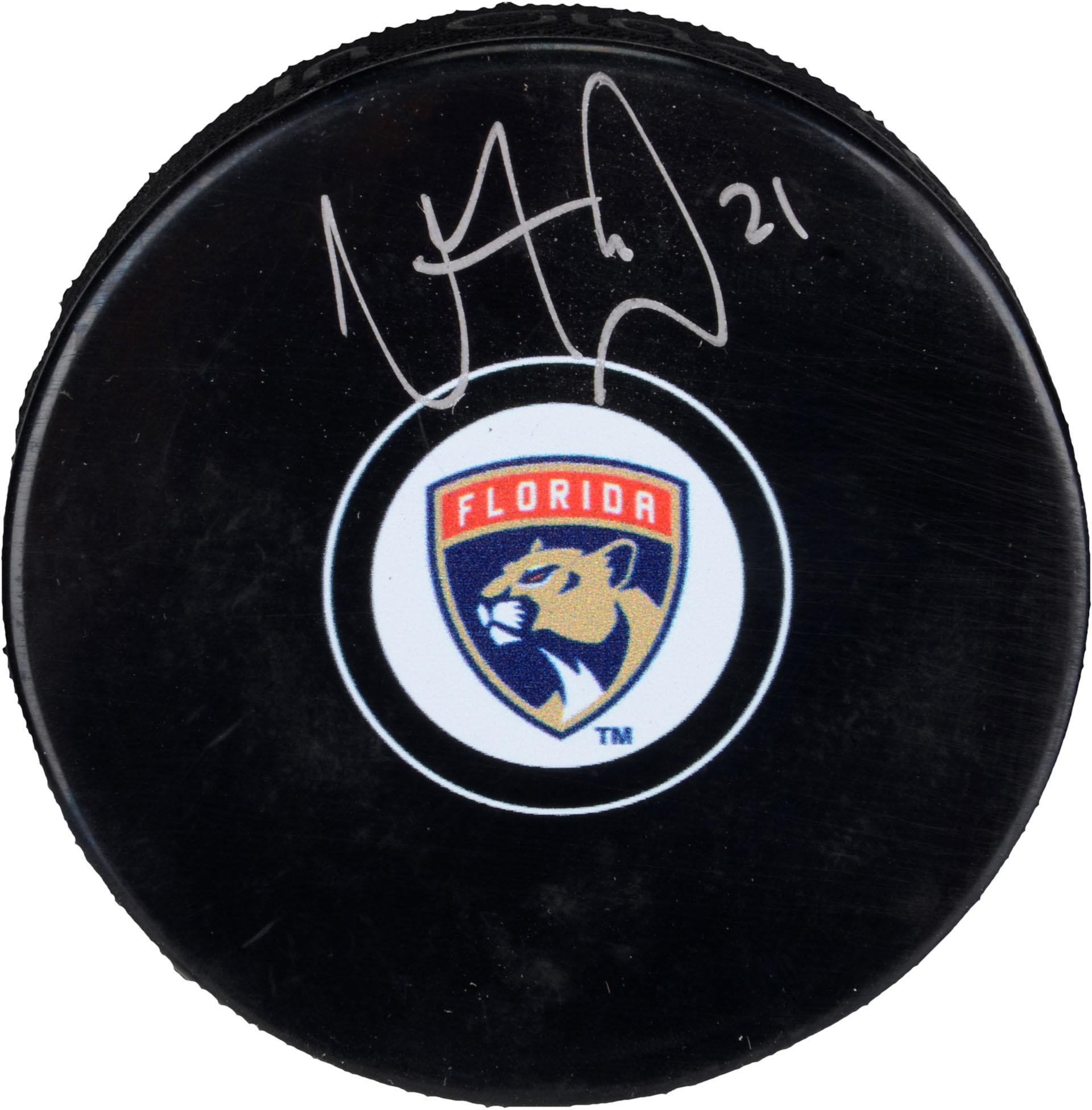 Vincent Trocheck Florida Panthers Autographed Hockey Puck Fanatics Authentic Certified Autographed NHL Pucks