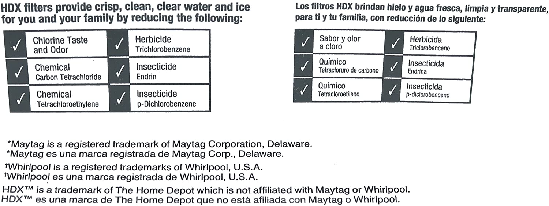 Filtro / purificador de agua de repuesto HDX FMM-2 para ...