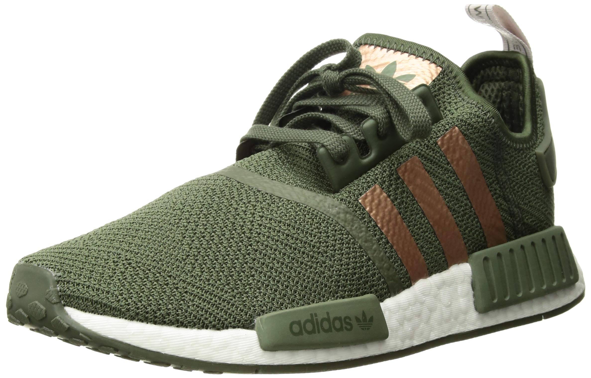 adidas Originals Women's NMD_R1, Green/Super Collegiate/ice Purple, 5 M US