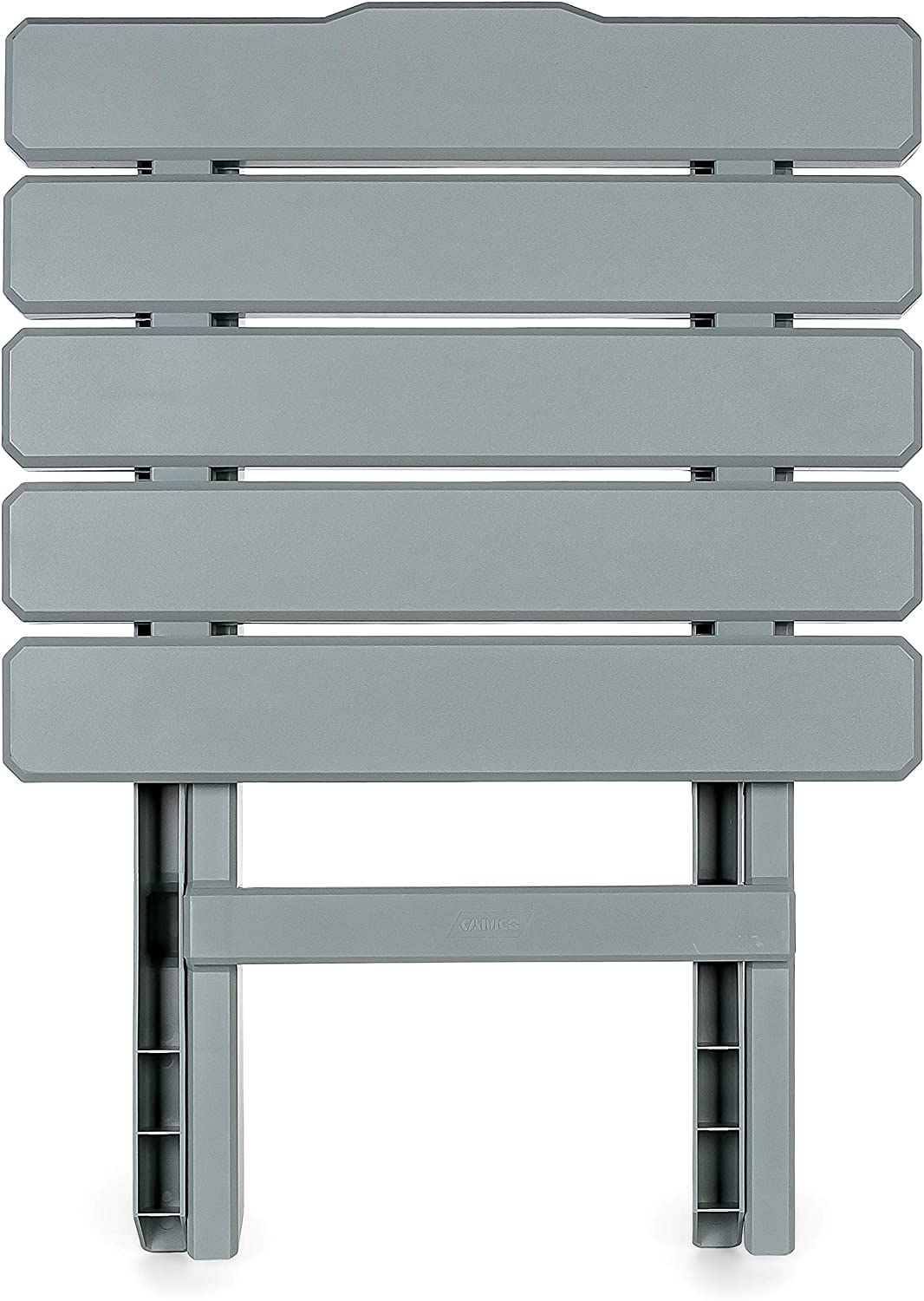 Weatherproof and Rust Resistant Picnics Perfect For The Beach Cookouts and More Camco 51682 Gray Regular Adirondack Portable Outdoor Folding Side Table Camping