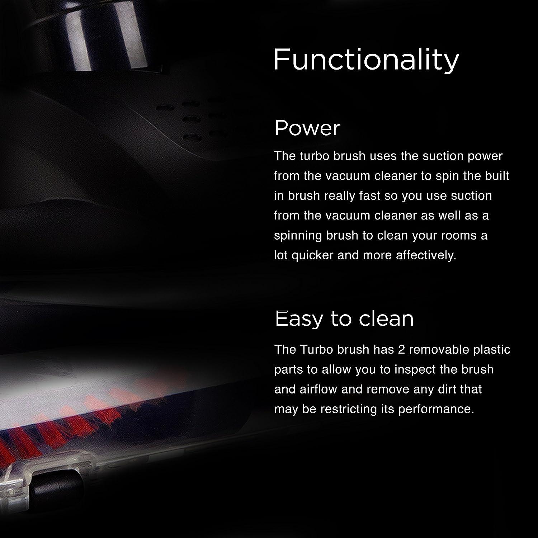 Duronic VC8 //BK beutelloser Handstaubsauger//Standstaubsauger//Stielstaubsauger 800 Watt//schwarz 2-in-1 Staubsauger//HEPA Filter//Bodend/üse Teppich und Hartboden//Polsterd/üse//Fugend/üse