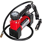 SuperFlow Portable Air Pump, 12 volt Air Compressor, Tire Inflator 140 PSI, 12v air compressor for Cars, Trucks, and Bikes.