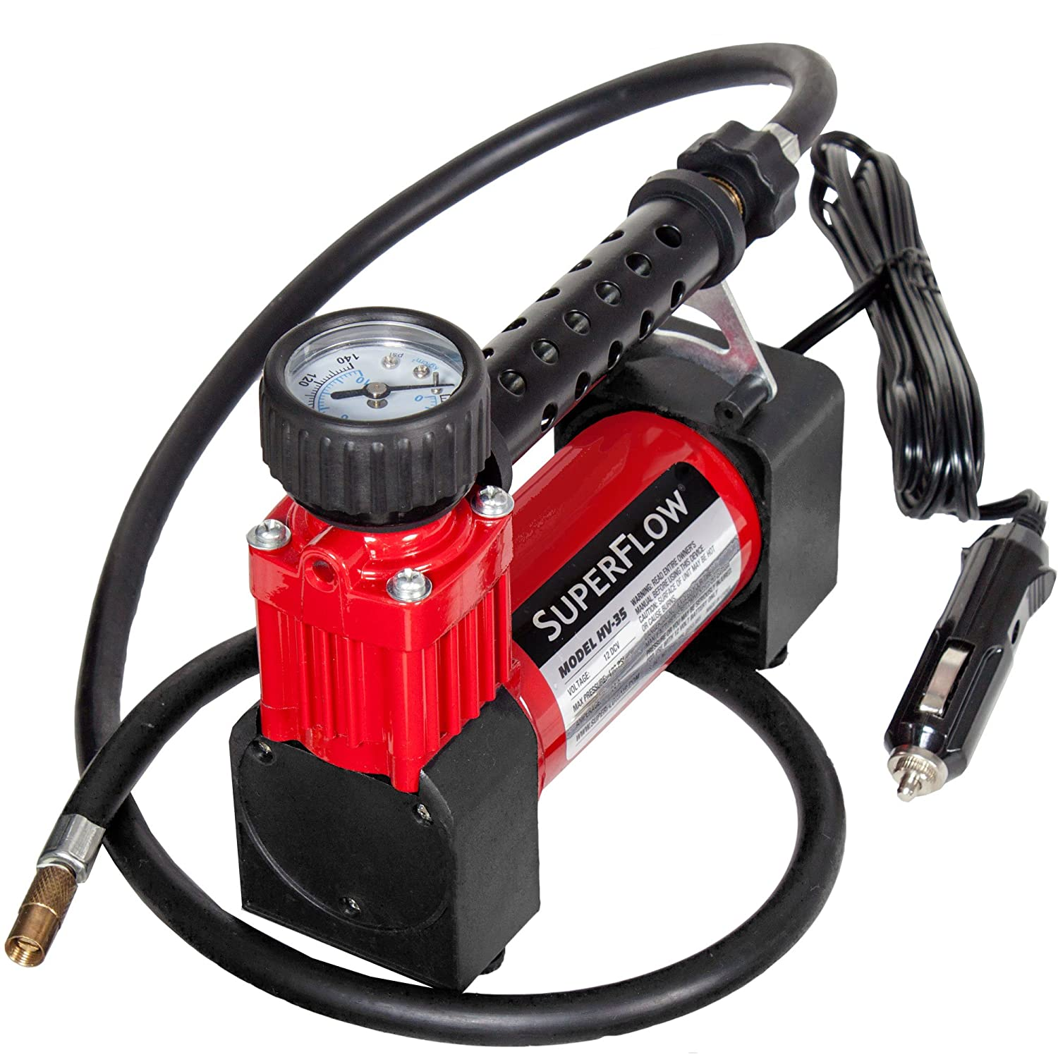 Q Industries HV35 SuperFlow 12-Volt 140 PSI Air Compressor KEYU1 HV-35