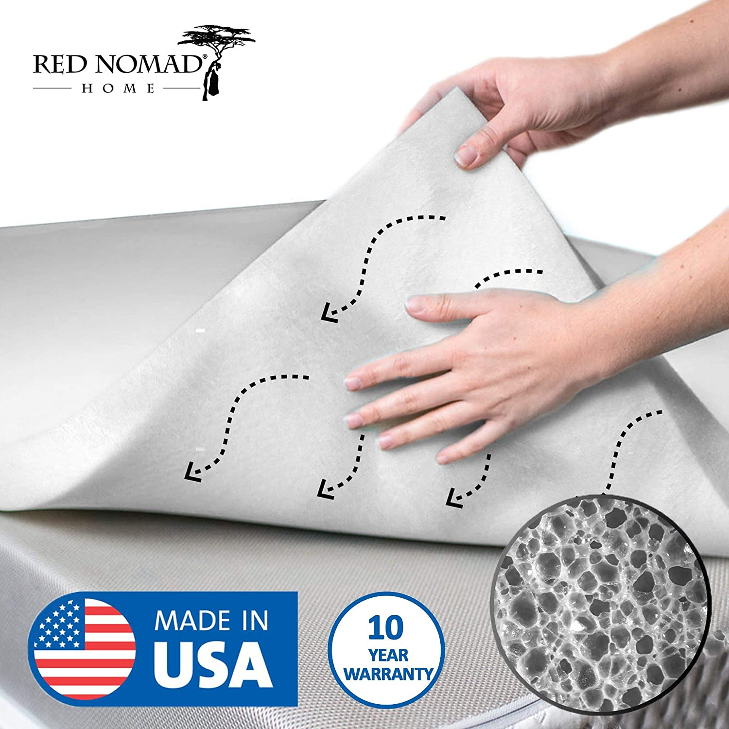 Red Nomad Memory Foam Mattress Pad