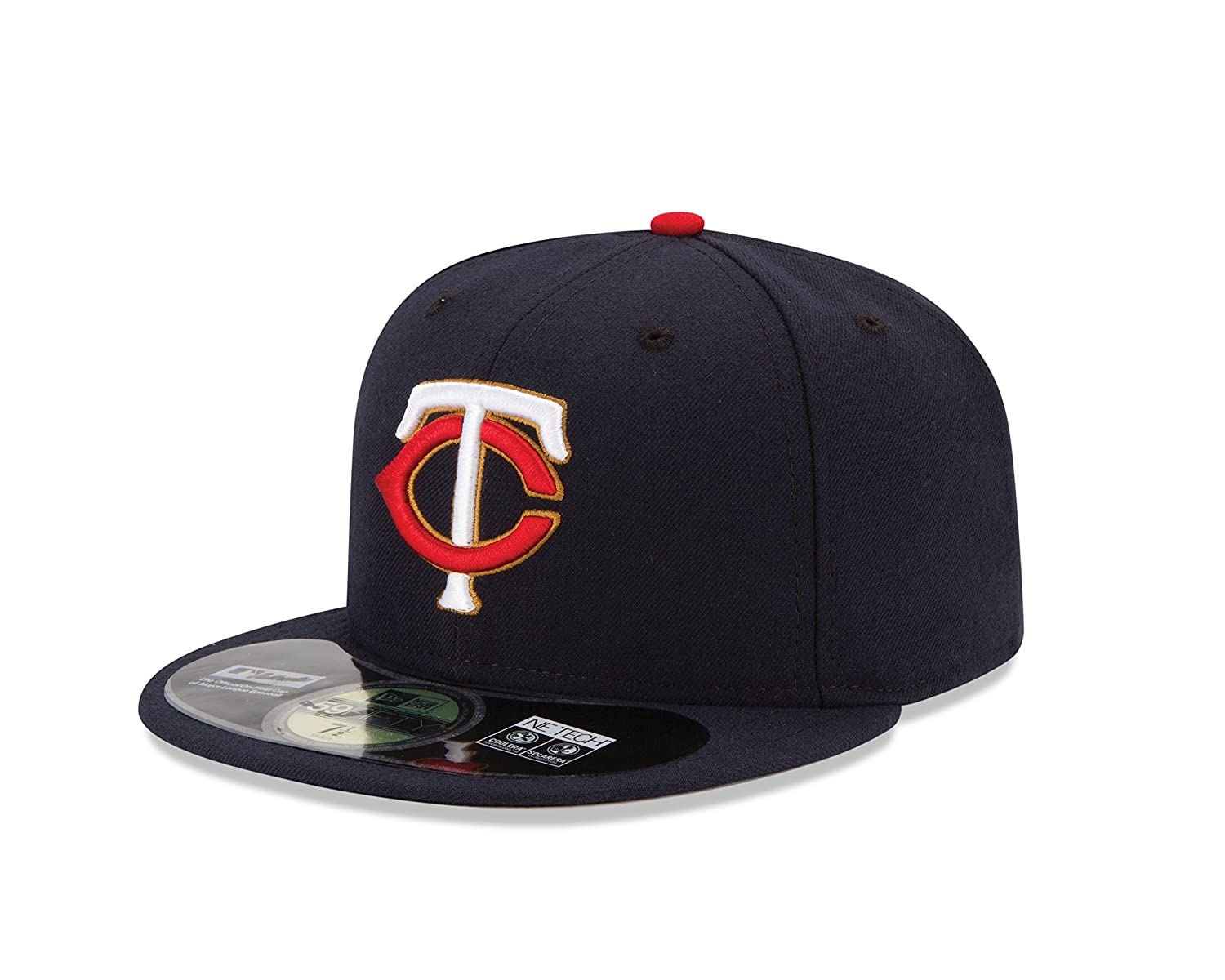 buy online ada63 c5020 Amazon.com  MLB Minnesota Twins Men s Authentic Collection On Field 59FIFTY  Fitted Cap, 7 1 8, Navy  Sports   Outdoors
